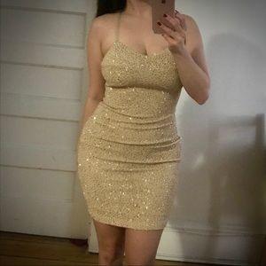 Champagne Marilyn Monroe Style Dress